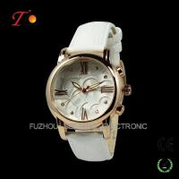 Buy cheap beautiful and colorful leather band watch and golden case for women dubai wholesale market from Wholesalers