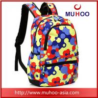 China Printed high school travel hiking backpacks school bag for outdoor on sale