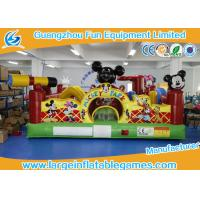 Buy cheap Club Inflatable Bouncy Castle For Kids / Mickey Mouse Bounce House from Wholesalers