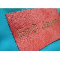 Buy cheap Personalized Metal Logo Genuine Embossed Leather Labels And Tags For Clothes from Wholesalers