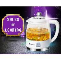 Buy cheap Borosilicate glass electric kettle adopts stainless steel heating base from wholesalers