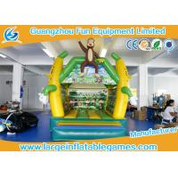 Buy cheap 4*3 M PVC Tarpaulin Inflatable Bouncy Castle Monkey Jumping Area house from Wholesalers