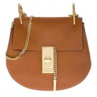 Buy cheap Buy Most Favorited Chloé Mini Drew Leather Chain Brown Cross Body Bag,Chloé Cross Body Bags For Sale from Wholesalers