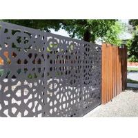 China CNC Geometric Laser Cut Decorative Metal Panels  , Laser Cut Screen Panels For Hand Rail Screen on sale