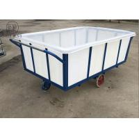 China K1200L Rectangular Commercial Plastic Laundry Trolley On Wheels For Industry Moist Linen factory