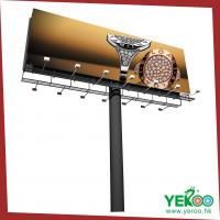 China Hottest advertising media outdoor billboard frame and unipole billboard poles on sale