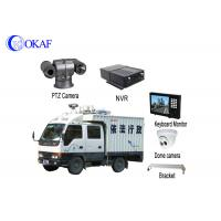 China Strong Light Vehicle PTZ Camera Roof Mounted Forensic Display 360 Degree Rotation factory