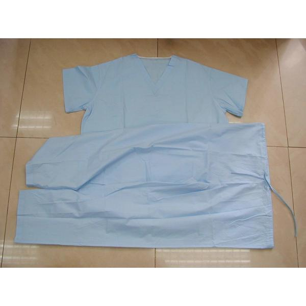 Eco Friendly Disposable Scrub Suits Surgical Hospital Gowns With CE ...