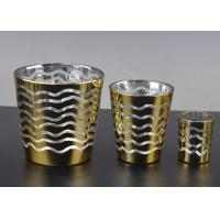 Short Jar Candle Holders For Tea Lights , Glass Tea Candle Holders