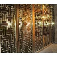 Buy cheap 304 golden stainless steel decorative screens room dividers from Wholesalers