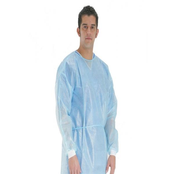 Poly Coated Chemotherapy Disposable Isolation Gowns Fluid Resistant ...