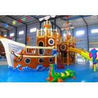 Buy cheap Water Park Play Equipment / Outdoor Amusement Park Pirate Small Water Slide from wholesalers