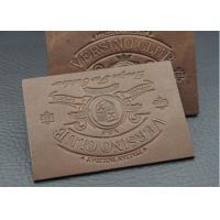 Buy cheap Washable Disbossed / Embossed Leather Patches For Jeans Customized Logo from Wholesalers