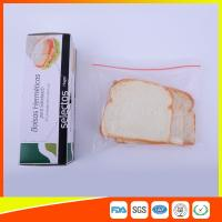 OEM Zipper Top Plastic Sandwich Bags Biodegradable For Fresh Keeping