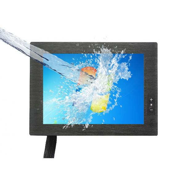8 Inch Waterproof Touch Monitor / 4 Wire Resistive Touch Screen 12 ...