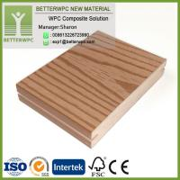 China UK Outdoor Fireproof 3D Embossed Plastic Wood Planks Floor Waterproof Composite WPC Decking on sale