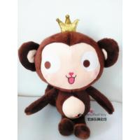 China plush monkey crown brown hot toys for kids cheap china cartoon children holiday present new fashion Eu japanese model on sale