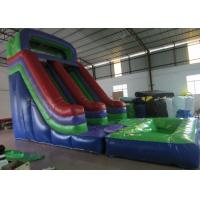 Dark Green Large Commercial Inflatable Water Slides / Bounce House With Slide