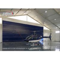 Buy cheap High Reinforce  Aluminum Frame Blue Door Aircraft Hangar Tent for Helicopter from Wholesalers
