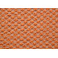 Nylon Spandex Cotton Stretch Lace Fabric Orange For Curtains SGS CY-LW0667