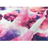 China 105 Gsm Pure Polyester Chiffon Fabric Printed Pattern Apply To Hijab / Shawl on sale