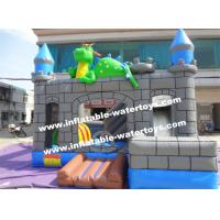 0.55mm PVC Kids Blow Up Water Slides , Toddler Inflatable Bouncer