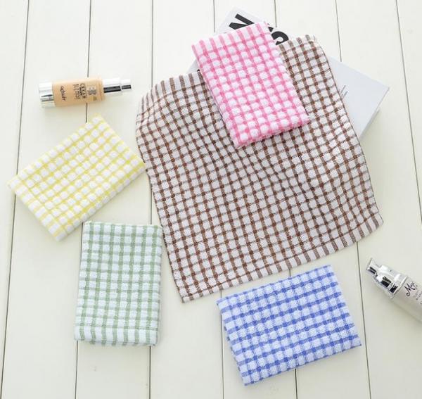 6 colors custom plain tea towels eco friendly waffle weave