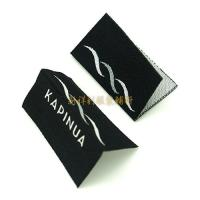 Buy cheap Centrefold Woven Clothing Labels Low Minimum With Logo For Damask Textile Products from Wholesalers