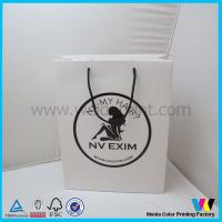 Buy cheap Foldable Top Edge Laminated Coated Paper Gift Bags For Shopping from Wholesalers