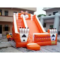 Buy cheap Playground Funny Inflatable Water Slide , Outdoor Orange Inflatable Tiger Slide from Wholesalers