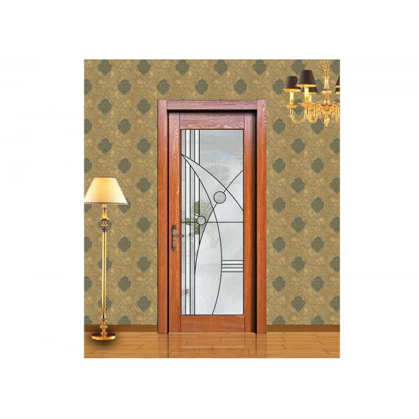 Insulated Low E Diamond Clear Bevel Sliding Glass Door For Home