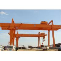China High Power Double Girder Rail Mounted Gantry Crane 15 Ton CE / ISO Certificated on sale