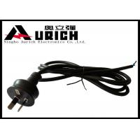 Buy cheap Australia Two Prong Electric Dryer Power Cord SAA Approved 7.5A 250V Black from wholesalers