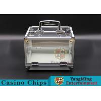 Buy cheap 600PCS Double Open Handle Texas Chip Box / Aluminum Alloy Frame High Transparency Chess Room from wholesalers