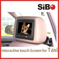 China Taxi Touch Advertising Screen with CMS