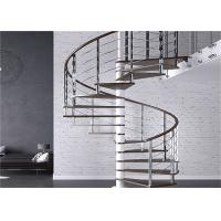 Buy cheap Carbon Steel Tread Custom Spiral Staircase , Outdoor Wood Spiral Staircase from wholesalers