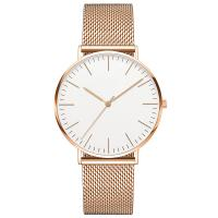 Buy cheap Mineral Crystal Rose Gold Minimalist Waterproof Watch Japan Movt Quartz Sr626sw from wholesalers