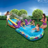 Buy cheap Heavy Duty Inflatable Water Slides Kid Toddler Outdoor Splash PVC Pool For Ages 2 - 13 from Wholesalers
