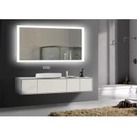 Buy cheap Rectangle Frameless Mirror TV With LED Light Clock , Smart Mirror TV For Hotel from Wholesalers