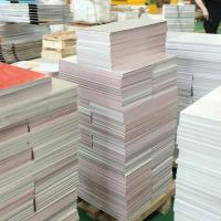 White aluminum sign blanks
