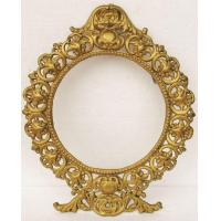 Buy cheap Heavy Large Vintage Cast Iron Metal Picture Frame Ornate Gold Gilt Ormolu Jm20 Jm20 from wholesalers