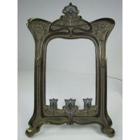 Buy cheap Antique Nouveau Frame Tulips Flowers Cast Iron Brass Ornate Picture Mirror Ebay from wholesalers