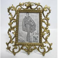 Buy cheap Antique Ornate Gilded Cast Iron Photo Frame With Stand Easel 1800s Yqz Ebay from wholesalers