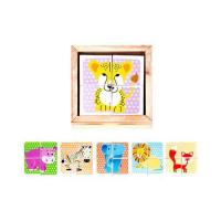 Buy cheap 6 side wooden puzzle from wholesalers