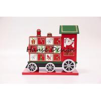 Buy cheap Colorful painted wooden advent calendar from wholesalers