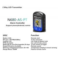 Buy cheap Car Security Systems Two way car alarm system N680 from wholesalers