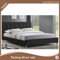 Buy cheap Hot Sale Beautiful Upholstered Double Size Leather Bed With Diamond Decorated Headboard from Wholesalers