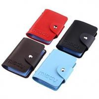 Miady PU Leather Portable Credit Card Holder with 24 Card Slots - 4 Pack