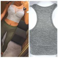 Buy cheap Gray Mesh Patchwork Sport Tanks For Women from wholesalers