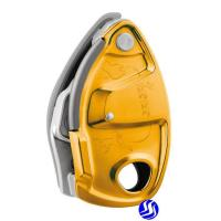 PETZL GRIGRI + D13A Belay device with assisted braking and anti-panic handle,